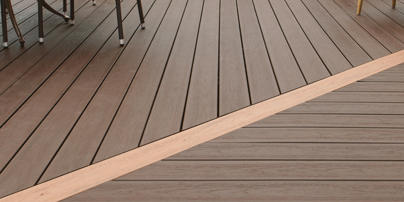 Two colour decking