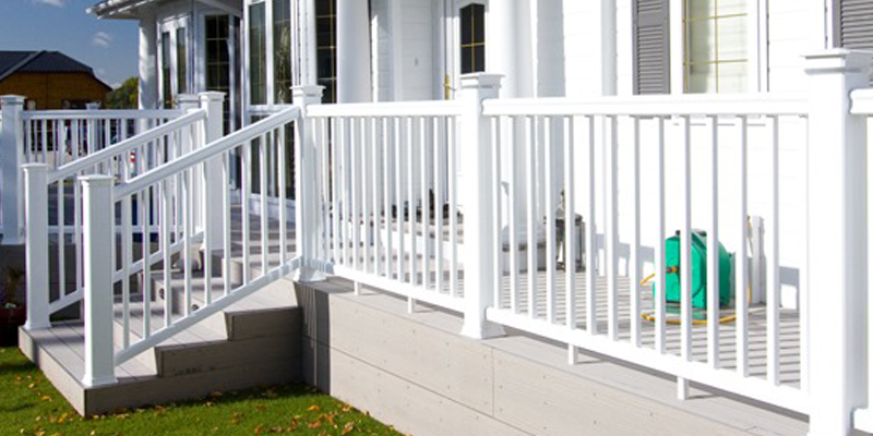 White outdoor railing
