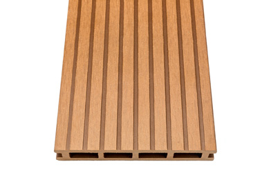 Solid composite decking