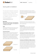 Quick Guide to Installation of TimberTech Deckboards